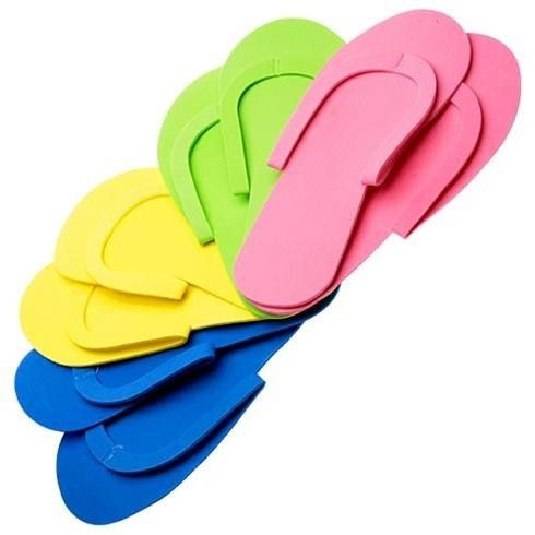 Disposable Foam Pedicure Slippers - Pack of 12