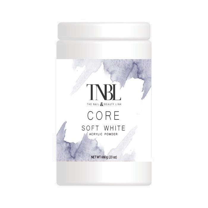 TNBL Core Acrylic Powder - Soft White 660g / 23oz